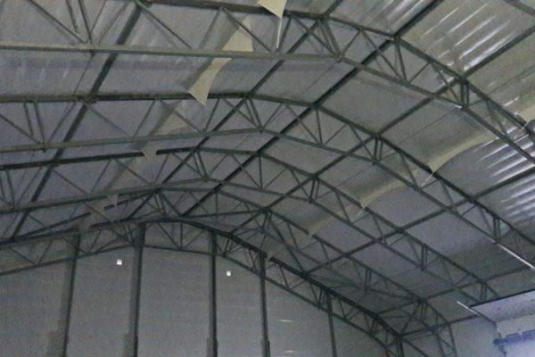 Obudowa hali namiotowej w Białymstoku