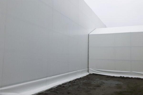 Łącznik hali namiotowej białej