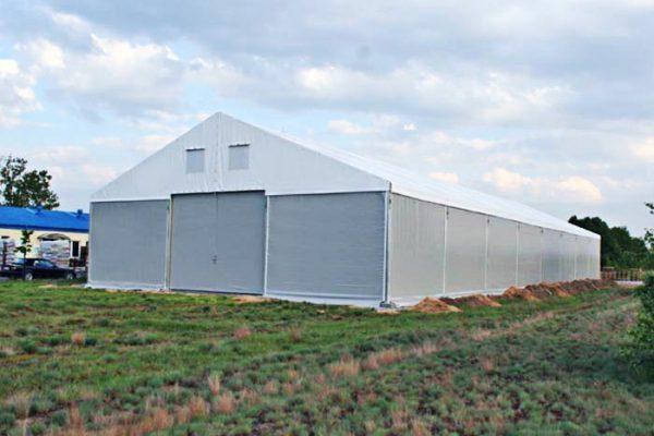 Aluminiowa hala magazynowa z namiotu