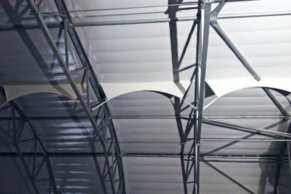 Zabudowa hali namiotowej