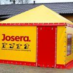 Żółta hala namiotowa Białystok