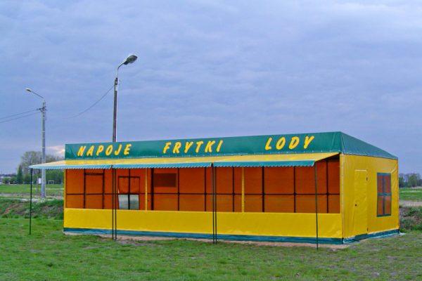 Widok hali z napojami Białystok